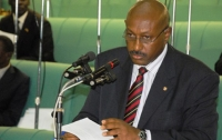 Hon. Fredrick Ruhindi during a recent seating of Parliament