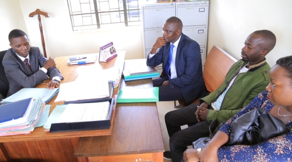 Clients being attended to at Wakiso Justice Centre (PHOTO: JLOS)