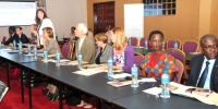 Officials from JLOS Development Partners at the 21st Annual JLOS Review on Oct. 27 2016 at Speke Resort Munyonyo (PHOTO: JLOS)