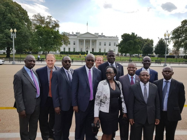 The Honarable Chief Justice, Bart Katurebe with the JLOS delegation in Washington, DC