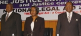 L-R: Hon. Kahinda Otafiire, Justice Bahegaine and the Chief Justice Benjamin Odoki during the National Legal Conference in 2011