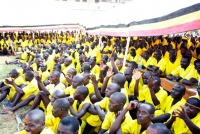 Prisoners attend a ceremony at Luzira Prison in Kampala (File photo)