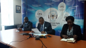 Officials from the UHRC at a recent media engagement event (PHOTO: UHRC)