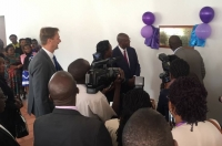The Chief Justice officially opening the new auditorium at the Law Development Centre on August 11 2017 (PHOTO: Grace Babihuga, Netherlands Embassy)