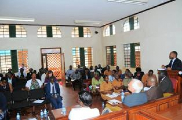 Stakeholders engage at Nakawa CM court during the JLOS monitoring visit on March 27 2018