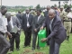 The Deputy Attorney General and State Minister for Justice and Constitutional Affairs Hon. Fredrick Ruhindi at the ground breaking ceremony for the Ibanda Justice Centre on May 21 2014 (PHOTO: JLOS/Edgar Kuhimbisa)